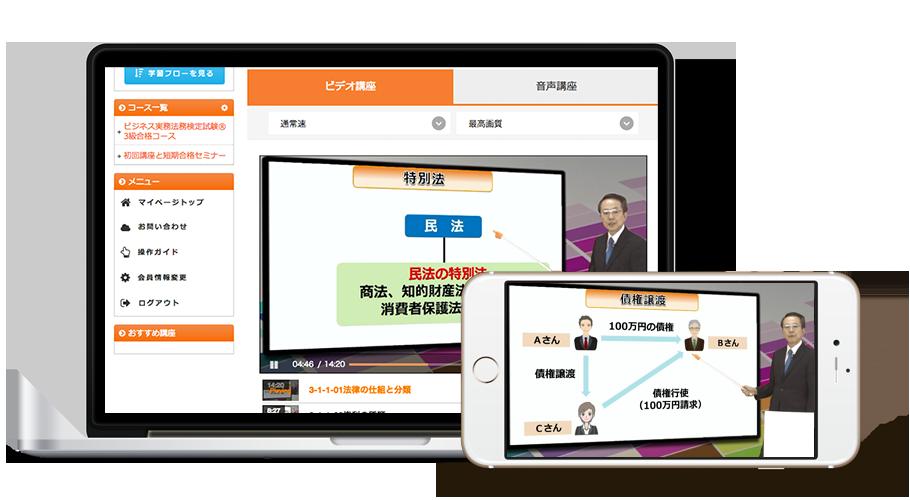 ビジネス実務法務検定試験® 3級合格コース[2017年試験対応版]